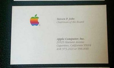 tarjetas de visita de Steve Jobs