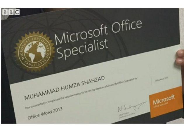 Un chaval de seis años obtiene la certificación Microsoft Office Specialist