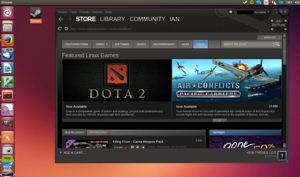 Seis de los diez juegos más populares en Steam soportan Linux