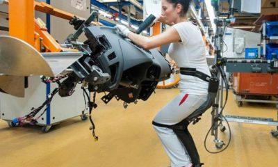 Audi utiliza exoesqueletos