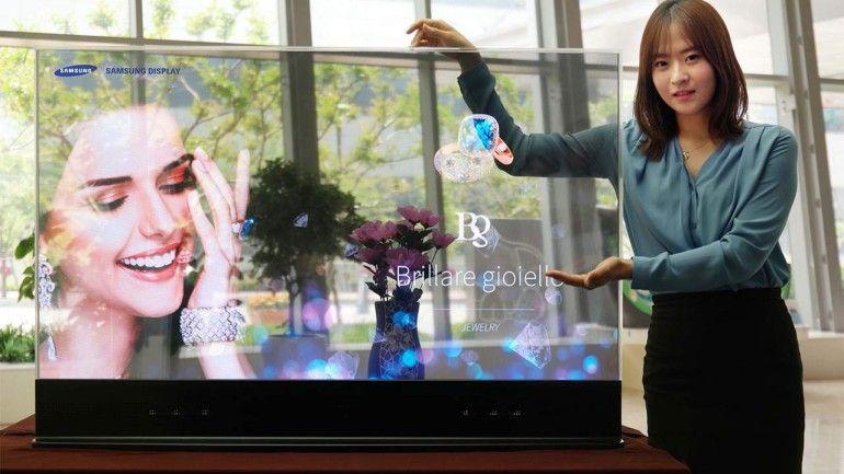 Así serán las OLED transparentes de Samsung