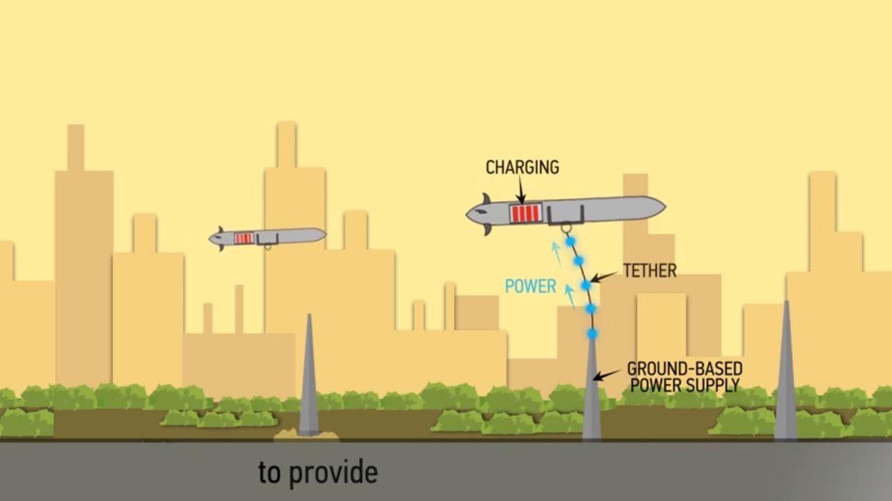 Boeing patenta un sistema para recargar drones en medio de un vuelo