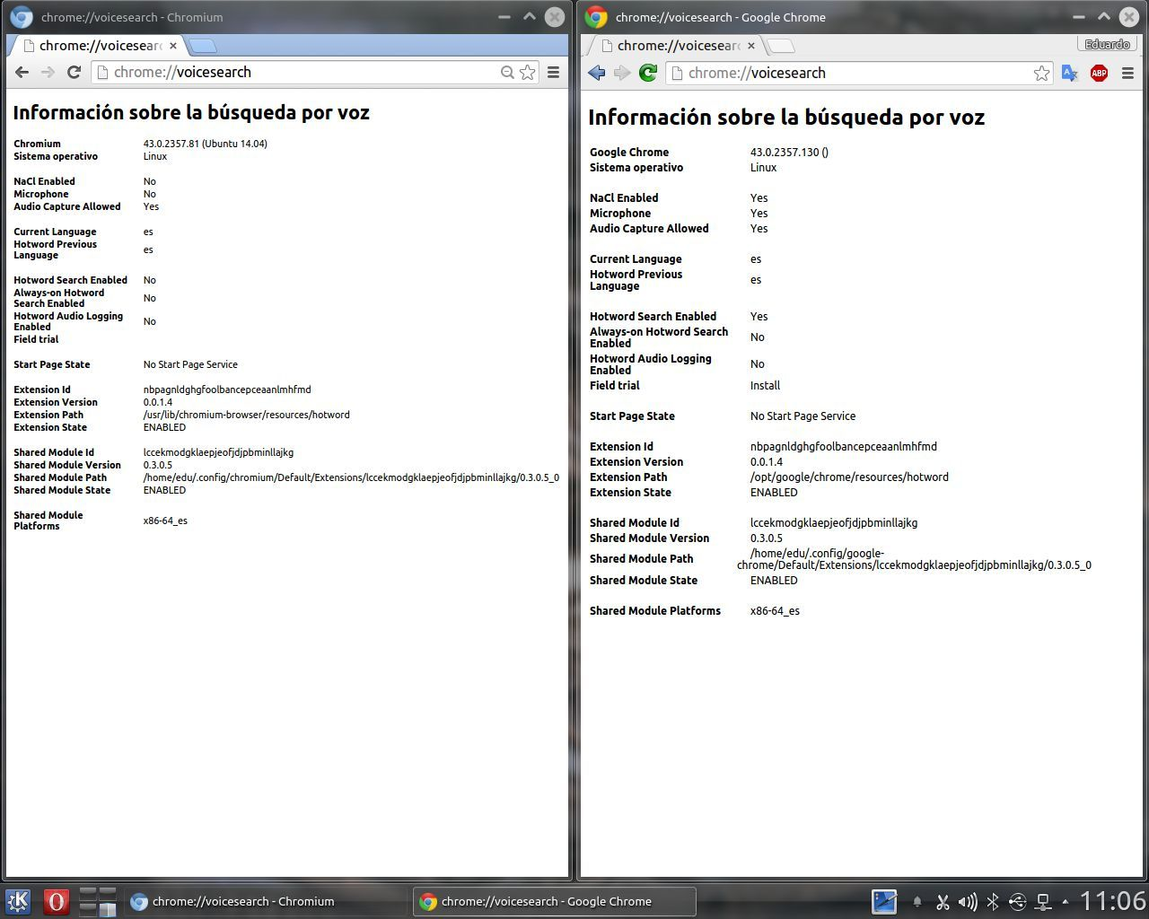 Hotword en Google Chrome y en Chromium