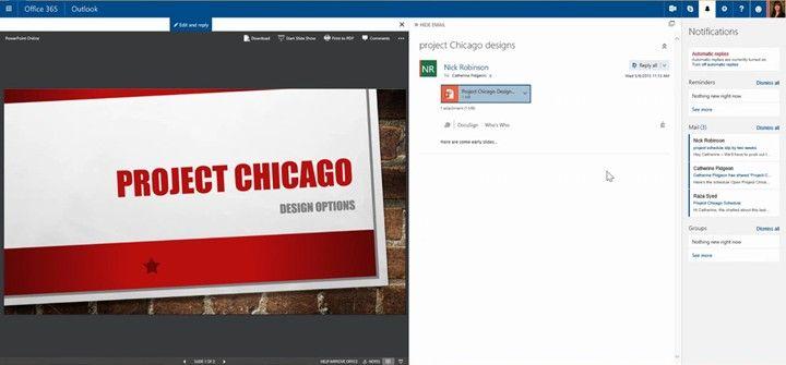 Nueva notificaciones en Office 365