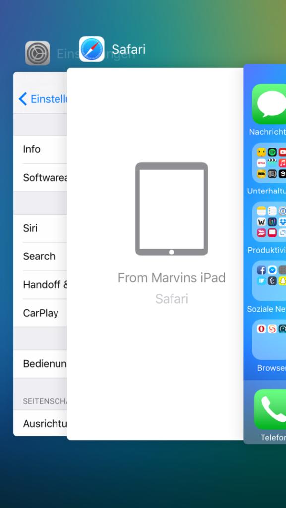 Nuevo diseño de la multitarea en iOS 9 Beta 2