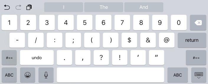 Teclado del iPad incluye botones de hacer y deshacer
