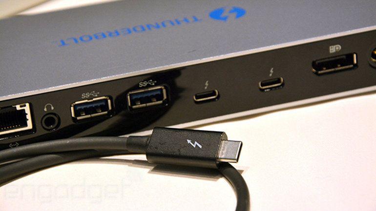 Thunderbolt 3 es el doble rápido y usa una interfaz USB Type-C