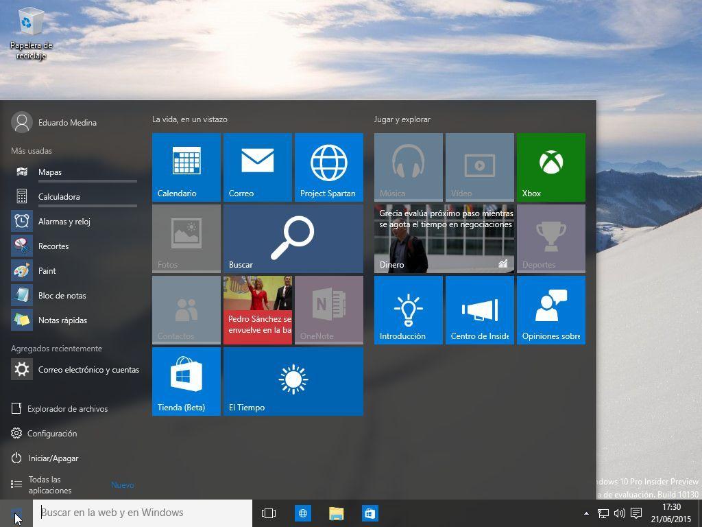 Windows 10 es más de lo mismo