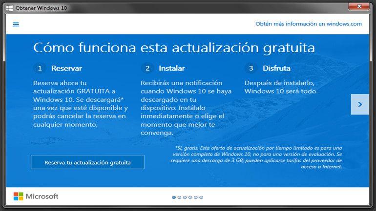 actualización a Windows 10