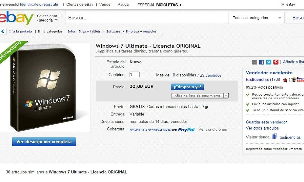 Licencia windows 7 ultimate ebay | GENUINE WINDOWS 7 ...