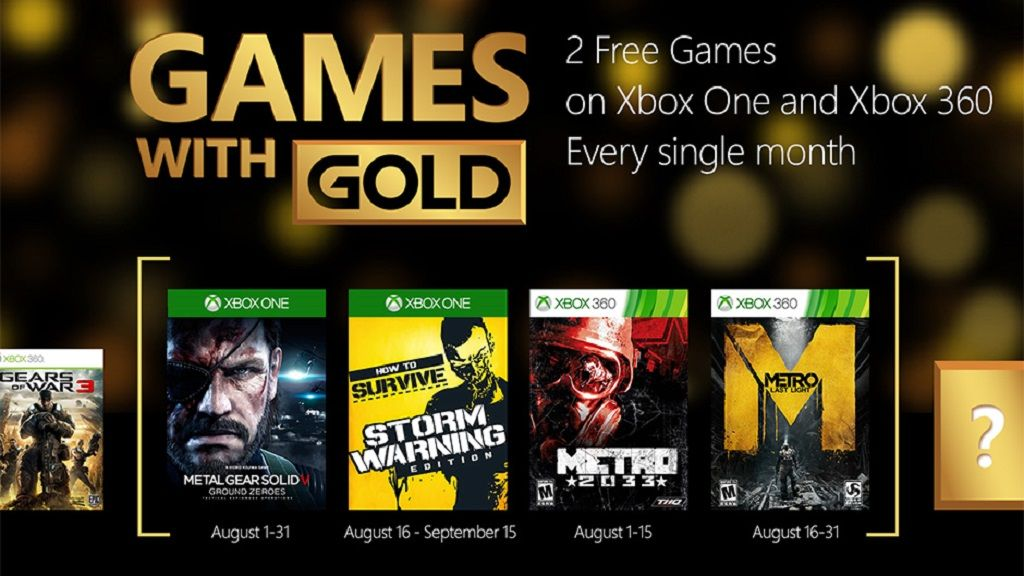 Juegazos gratis en Games with Gold de agosto 29