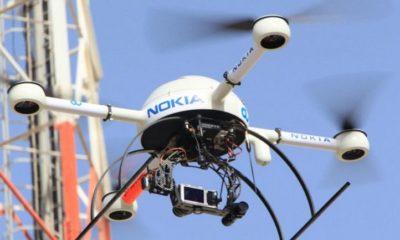 Nokia prueba drones