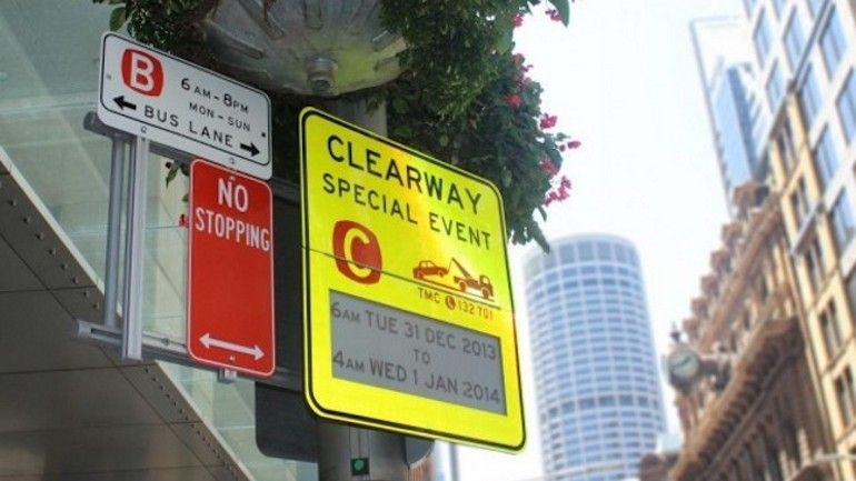 Sidney instala señales de aparcamiento sobre tinta electrónica