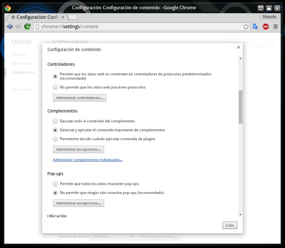 Como hacer que se ejecuten contenidos importantes en Google Chrome