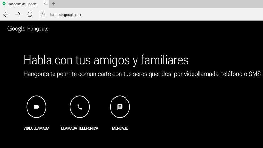 Google Hangouts, ahora independiente en versión web