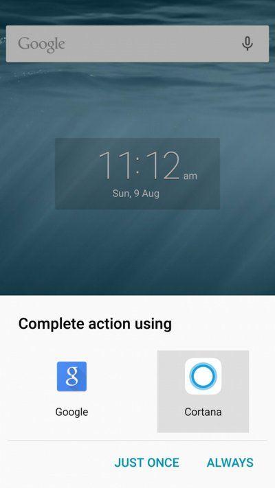 Sustituyendo Google Now por Cortana en Android
