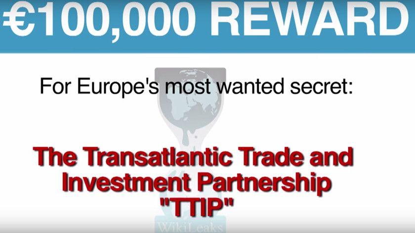 WikiLeaks ofrece 100.000 dólares por información de TTIP 30