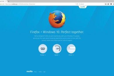 Firefox le hace un 'baipás' a Windows 10