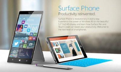 Estas serían las primeras imágenes del Surface Phone 106