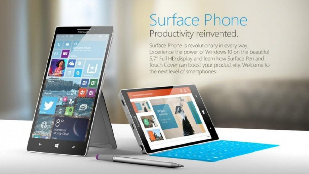 Estas serían las primeras imágenes del Surface Phone 34