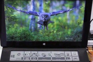 DisplayCover, teclado con pantalla de tinta electrónica
