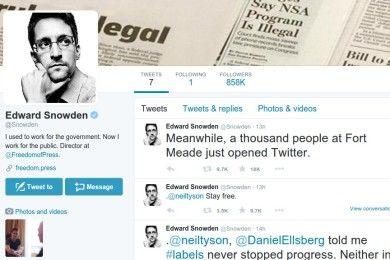 Aparece en Twitter una cuenta verificada de Edward Snowden