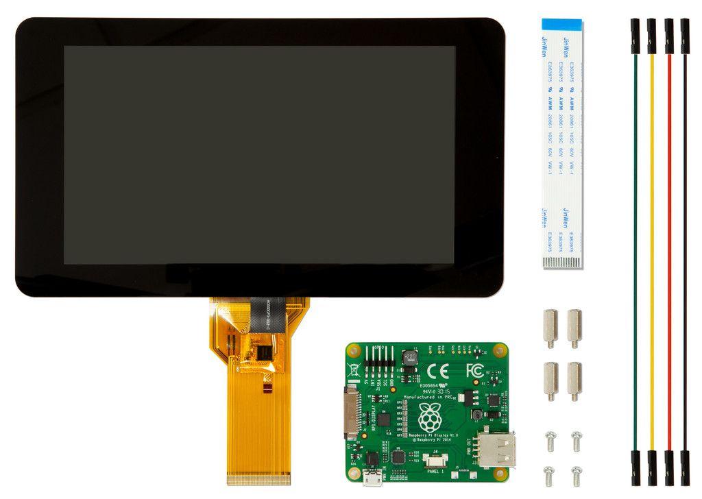 Componentes de la pantalla táctil de 7 pulgadas de Raspberry Pi