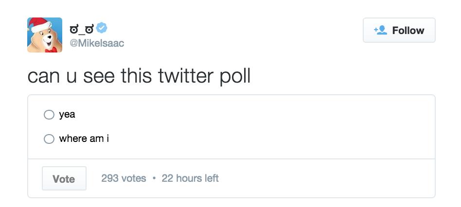 Encuesta nativa en Twitter