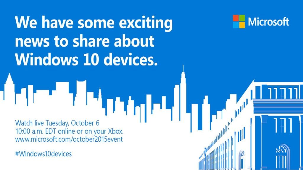 Anunciado evento Microsoft para el 6 de octubre 28