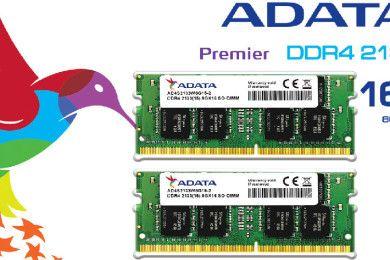 ADATA presenta memorias DDR4 SO-DIMM