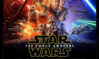 Cartel oficial de Star Wars: The Force Awakens. ¿Dónde está Mark Hamill?