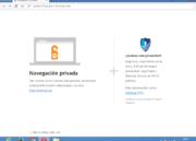 Cómo se ve la navegación privada en Opera Chromium