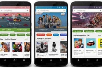 Google ya está desplegando el nuevo diseño de la Play Store