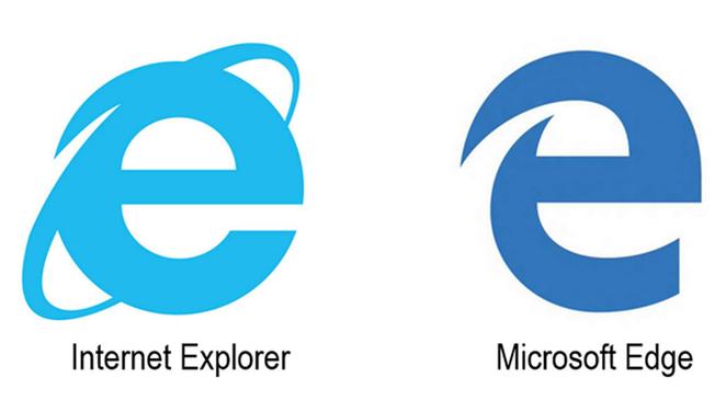 Logos de Internet Explorer y Microsoft Edge