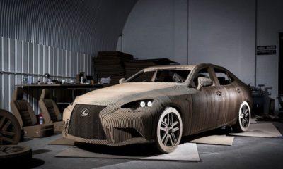 Origami Car, el coche de cartón de Lexus 148