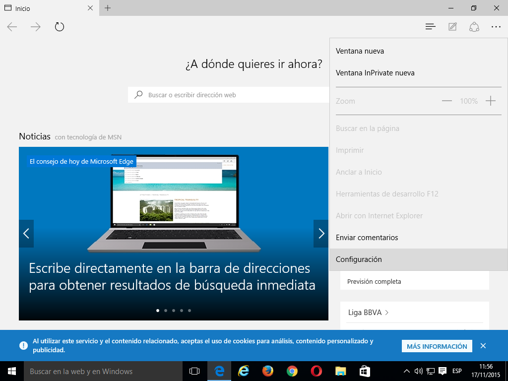 01 Cómo activar Do Not Track en Microsoft Edge
