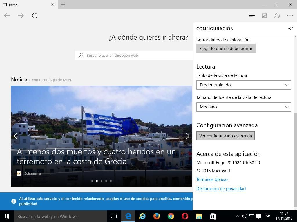 02 Cómo activar Do Not Track en Microsoft Edge