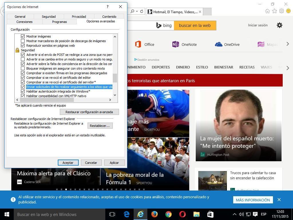 05 Cómo activar Do Not Track en Internet Explorer