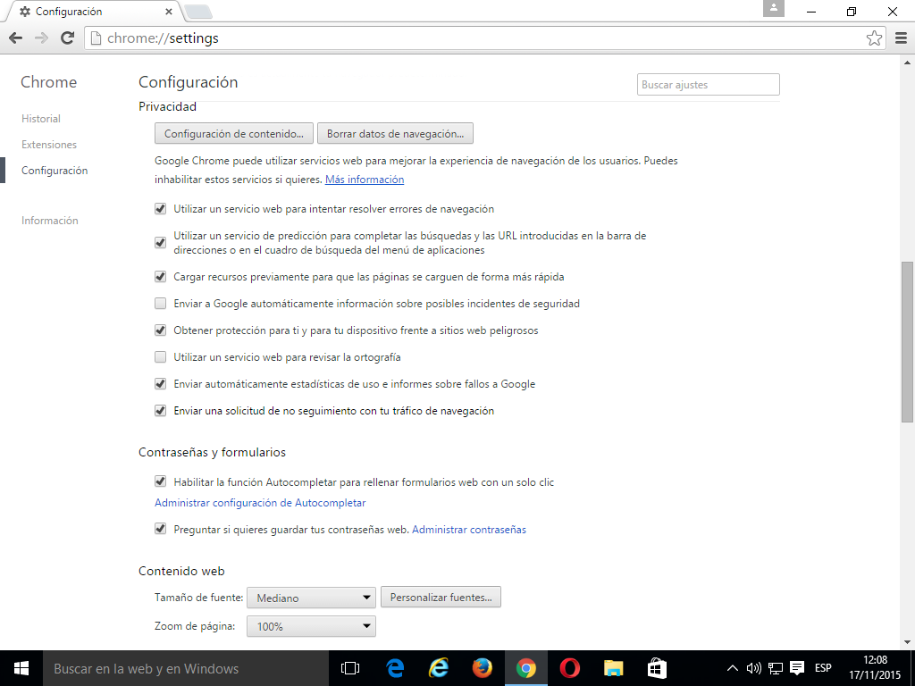 09 Cómo activar Do Not Track en Google Chrome