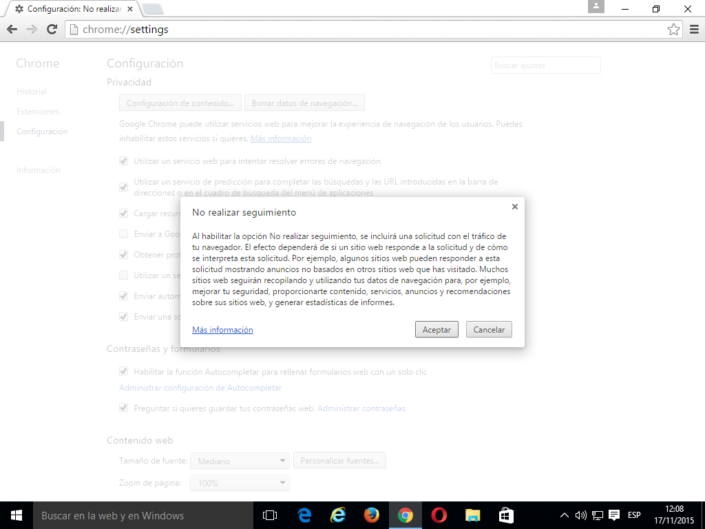 10 Cómo activar Do Not Track en Google Chrome