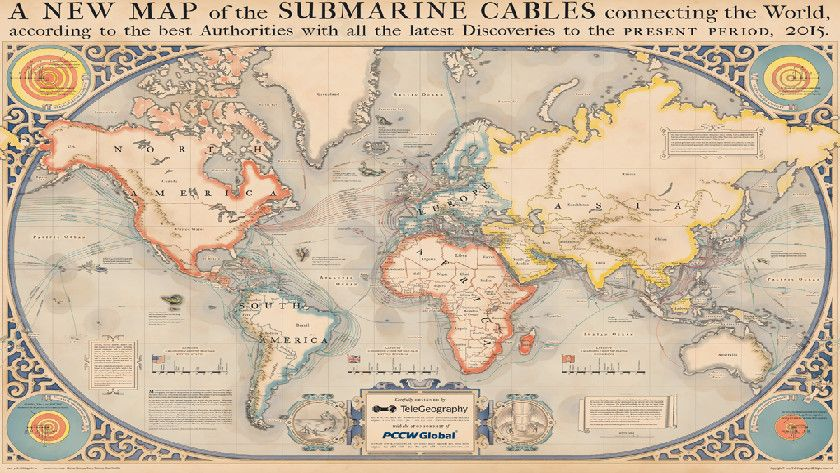 cables submarinos para Internet