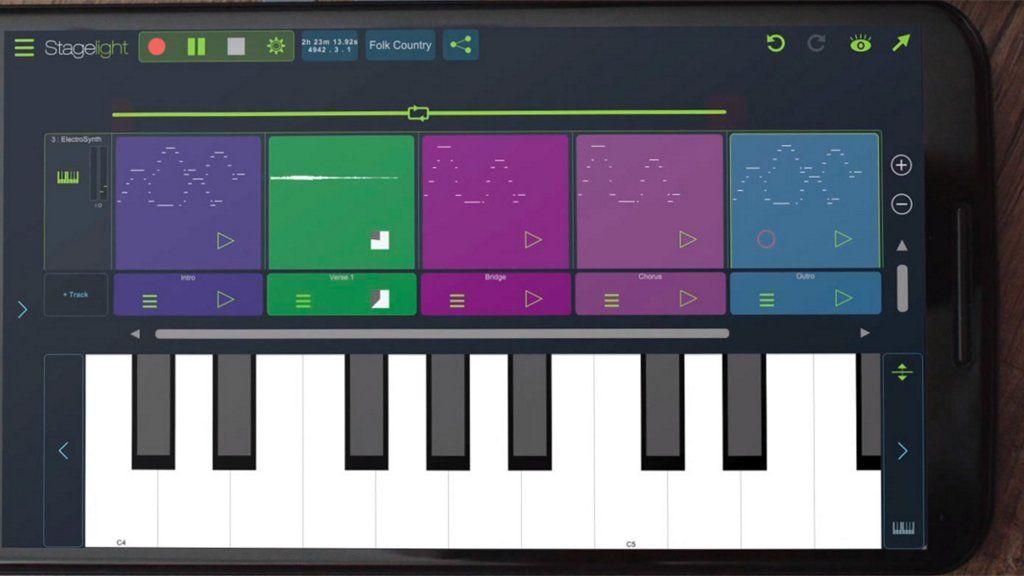 Crea música en tu smatphone Android con Stagelight