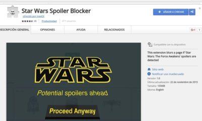 Evita los spoilers de Star Wars con esta extensión para Chrome