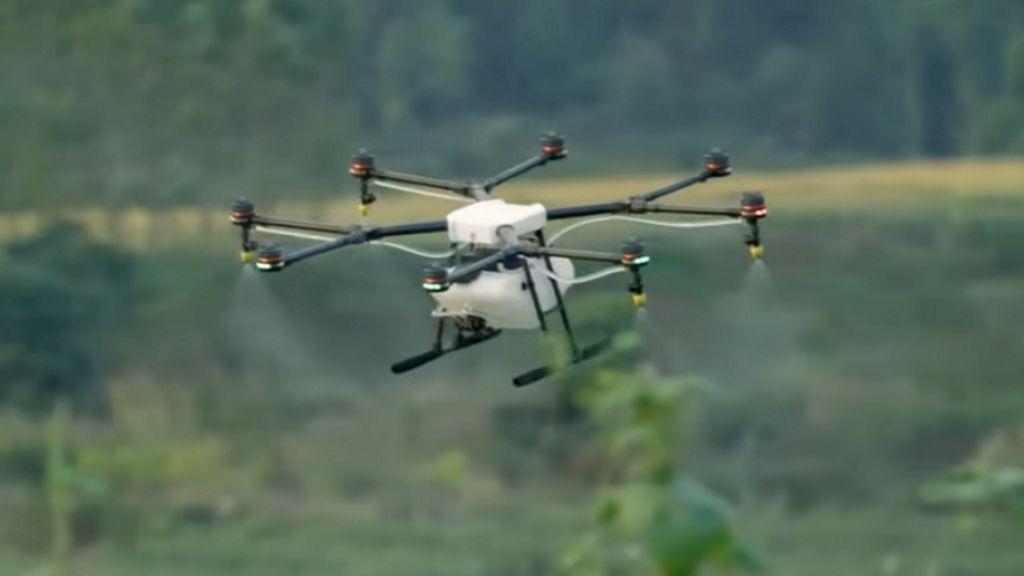 MG-1 de DJI, un drone resistente al agua y al polvo