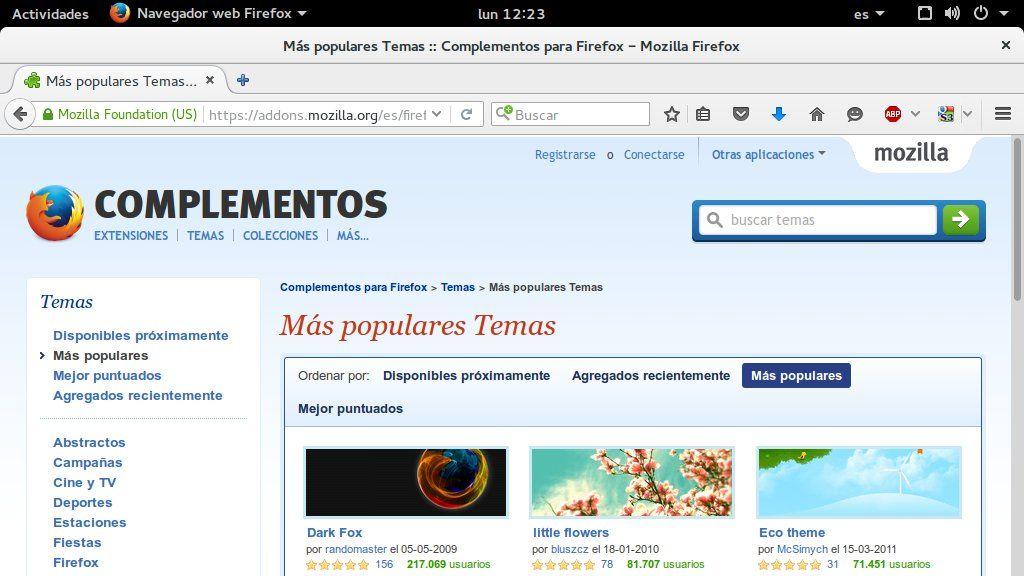 Mozilla planea eliminar los temas completos de Firefox