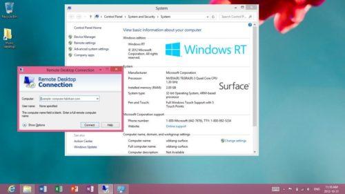 Windows RT corriendo en un Lumia 520