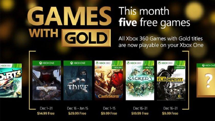 Estos son los juegos gratis de Games with Gold para diciembre 30