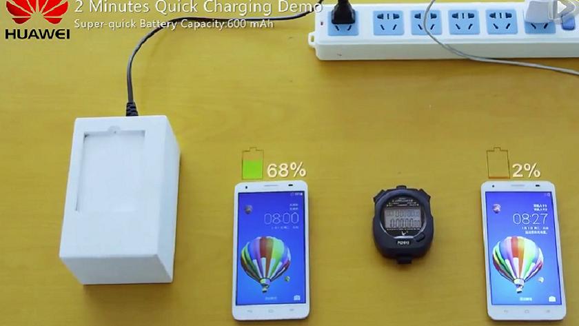 Huawei tiene baterías que cargan al 50% en 5 minutos 38