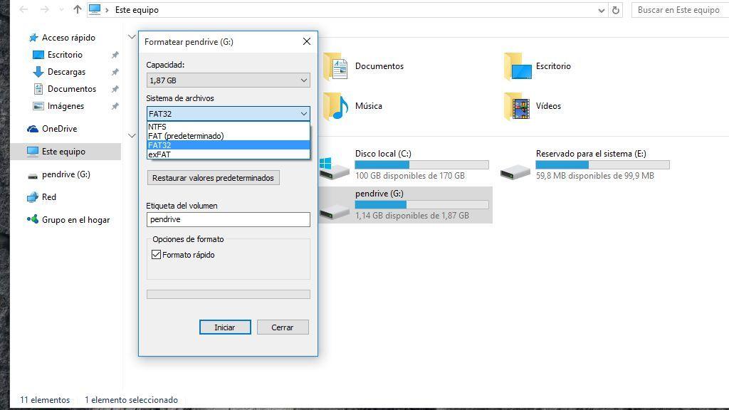 ¿En qué contextos hay que usar FAT32, NTFS y exFAT?