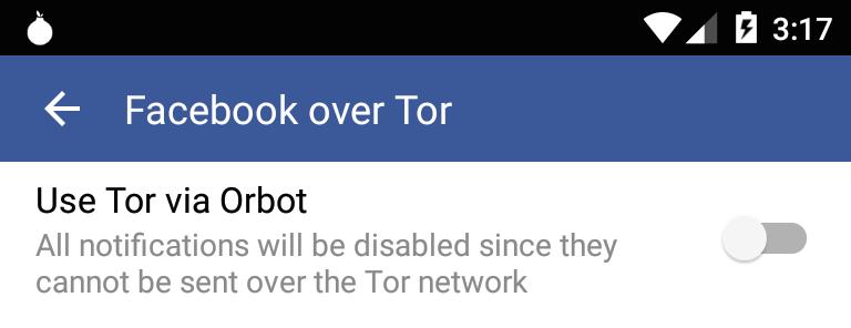 Activar Orbot en Facebook para Android